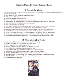 Beginner Mariachi Violin Resource Book