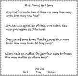 Beginner Math Word Problems