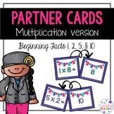 Beginner Multiplication Math Partner Cards!