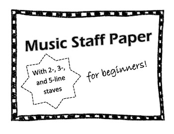 Beginner Music Staffs