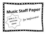 Beginner Music Staffs
