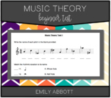 Beginner Music Theory Test