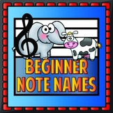 Beginner Note Names - English