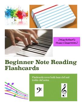 Beginner Note Reading Flashcards