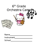 Beginner Orchestra Packet Using LETTERS (before note reading)
