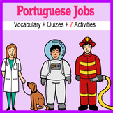 Beginner Portuguese: Jobs - ☆no prep☆ printables, quizes, activities and more