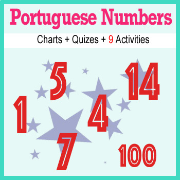 Beginner Portuguese: Numbers - ☆no prep☆ printables, quizes, activities and more