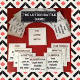 Beginner/ Pre intermediate vocabulary game - The Letter Battle