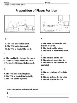 ESL Adults: Beginners: Preposition Worksheets