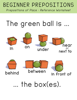Preposition Of Place Worksheet For Kindergarten