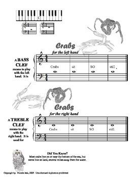 Beginner Primer Piano Lesson Book Fun with Animals