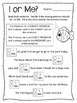 Beginner Pronoun Worksheets. Singular. Plural. Subject. Object. I & Me