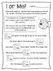 Beginner Pronoun Worksheets. Singular. Plural. Subject. Object. I & Me