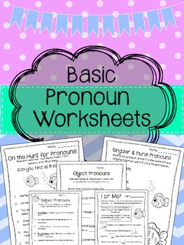 Beginner Pronoun Worksheets. Singular. Plural. Subject. Ob