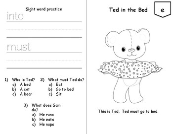 Beginning Readers with Sight Word Practice and Comprehension Questions