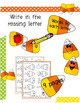 Beginner Reading CVC Candy Corn Vowel Work NO PREP Fall Worksheets
