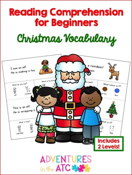 Beginner Reading Christmas Comprehension Worksheets