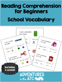 Reading Comprehension Worksheets:  School (CDN Spelling)