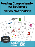 Reading Comprehension Worksheets: School (US Spelling)