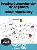 Reading Comprehension Worksheets: School (US Spelling)