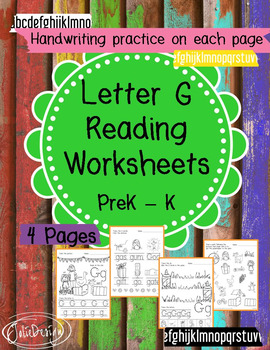 Beginner Reading NO PREP Worksheets Letter G   PreK-K