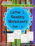 Beginner Reading NO PREP Worksheets Letter L   PreK-K