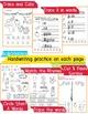 Beginner Reading NO PREP Worksheets Short A | PreK-K