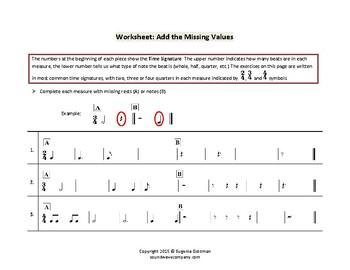 Beginner Rhythm Charts and Worksheets