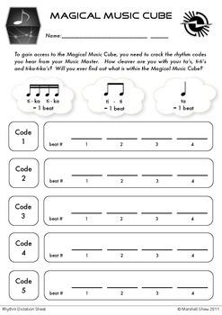 Beginner Rhythmic and Melodic Activity Sheets