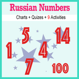 Beginner Russian: Numbers - ☆no prep☆ printables, quizes, activities and more