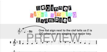 Beginner Sight Singing Examples