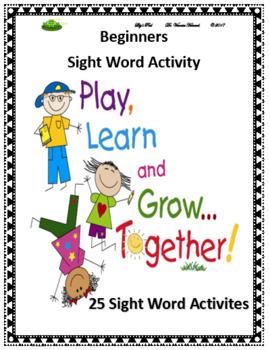 Beginner Sight Word Activities
