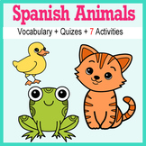 Beginner Spanish: Animals - ☆no prep☆ printables, quizes, activities and more