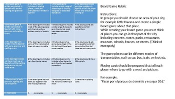 Beginner Spanish Board Game