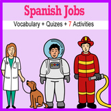 Beginner Spanish: Jobs - ☆no prep☆ printables, quizes, activities and more