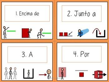 Beginner Spanish Preposition Task Cards