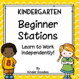 Beginner Stations Activities for Kindergarten