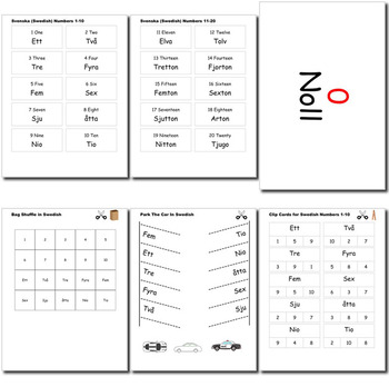 Beginner Swedish: Numbers - ☆no prep☆ printables, quizes, activities and more