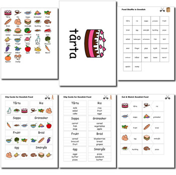 Beginner Swedish: food - ☆no prep☆ printables, quizes, activities and more