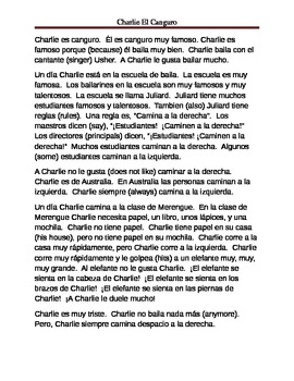 Beginner TPR Guided Reading (Spanish)
