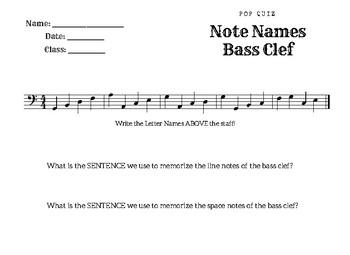 Beginner Treble and Bass Clef Quiz Bundle
