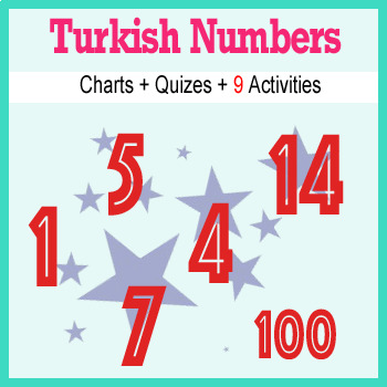 Beginner Turkish: Numbers - ☆no prep☆ printables, quizes, activities and more