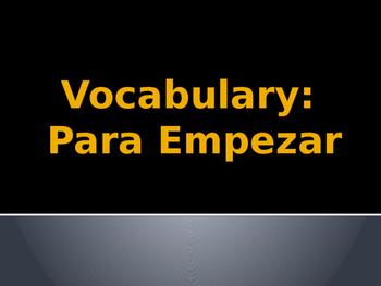 Beginner Verbs for Spanish 3