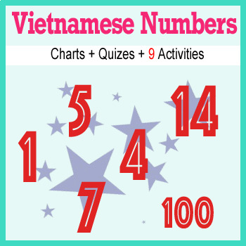 Beginner Vietnamese: Numbers - ☆no prep☆ printables, quizes, activities and more