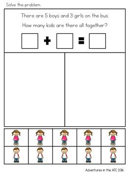Beginner Word Problems - Addition to 10