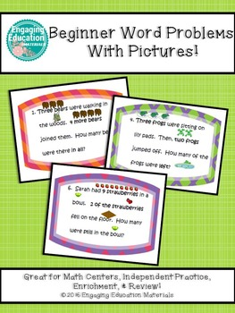 Beginner Word Problems with Pictures