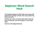 Beginner Word Search Pack