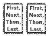 Beginner Writer Transition Word Poster
