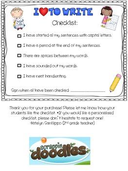 Beginner Writer's Checklist