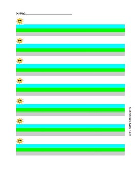 Beginner Writing Paper with Spatial Cues